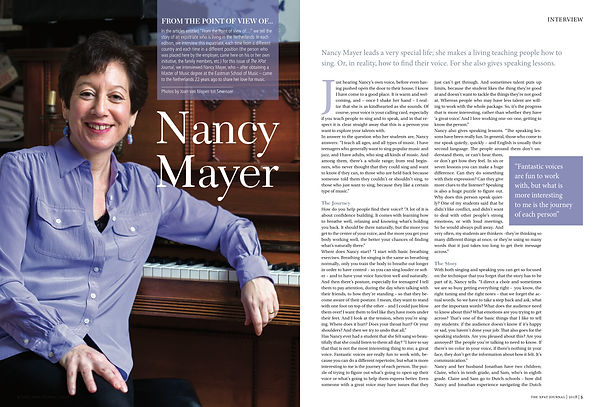 Nancy Mayer singing teacher