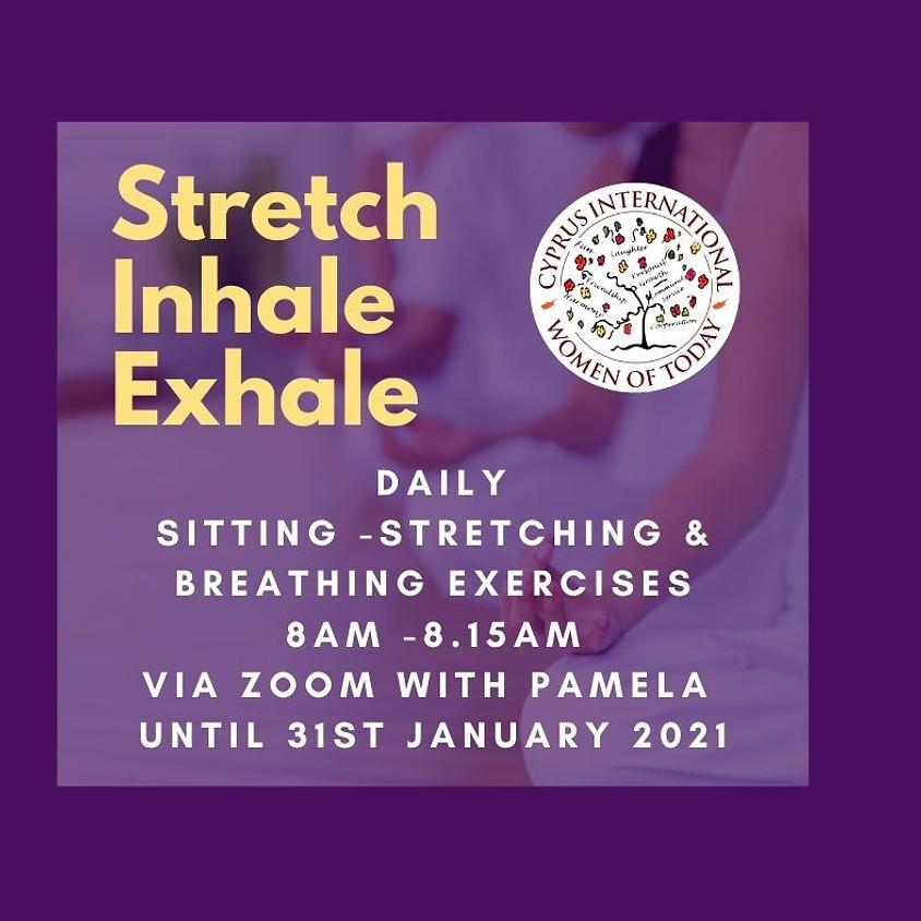 Strech, Inhale, Exhale   Yoga with Pamela