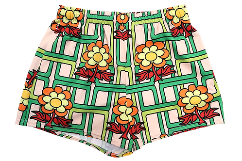 """""""Flower Power""""  Athletic BOOTY Shorts"""