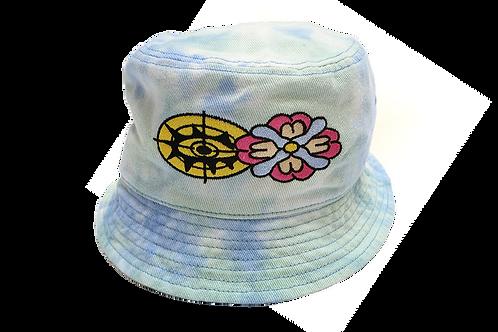"""""""EYE SEE YOU"""" Bucket Hat Sky Blue Tie Dye"""