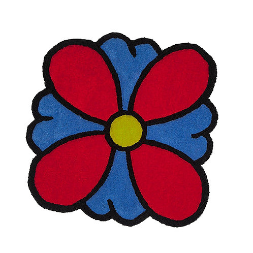"""PLUR FLOWER"" Hand Tufted Rug"