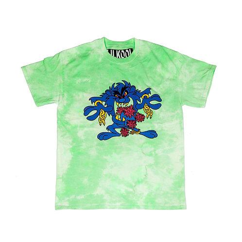 "*Bootlegged* ""Taz Covid-19 World Tour"" T-shirt SLIME GREEN"