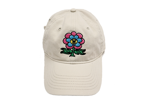 """Friendly Flower"" Dad Hat Tan"