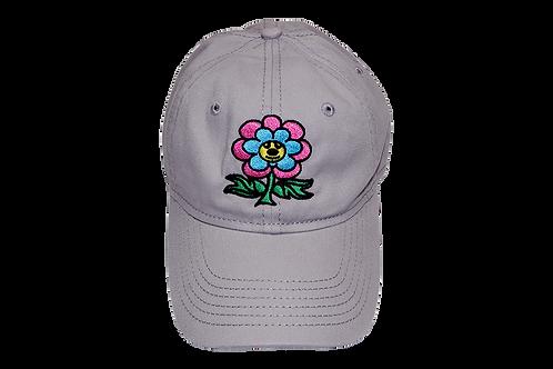 """""""Friendly Flower"""" Dad Hat Grey"""