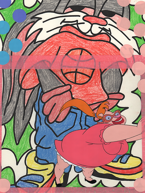 """""""Pandemic Confessions"""" #28  Animation Cel Drawing"""