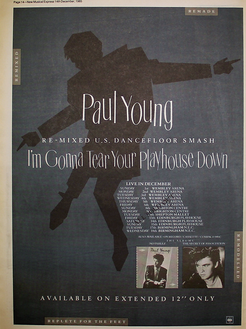 Paul Young – I'm Gonna Tear Your Playhouse Down