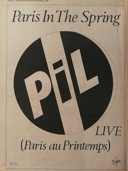 Public Image Ltd. - Live (Paris Au Printemps)