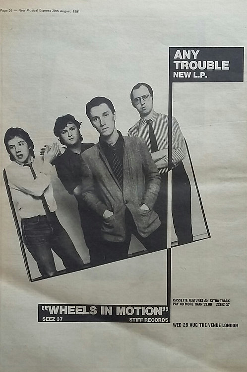 Any Trouble ‎– Wheels In Motion