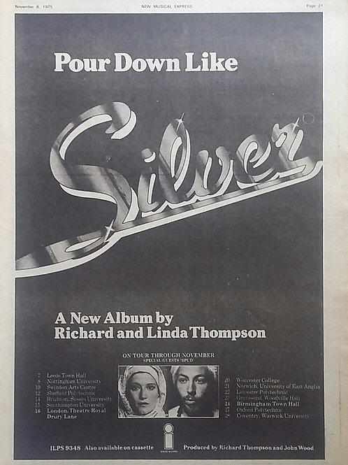 Richard & Linda Thompson – Pour Down Like Silver