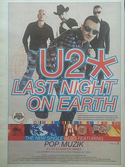 U2 - Last Night On Heart