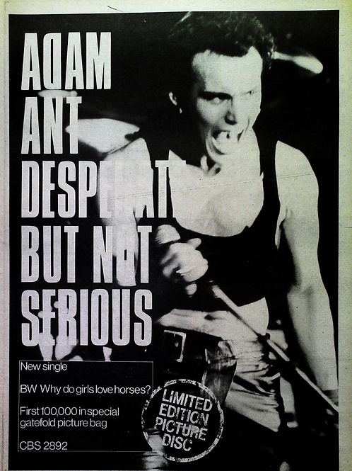 Adam Ant – Desperate But Not Serious