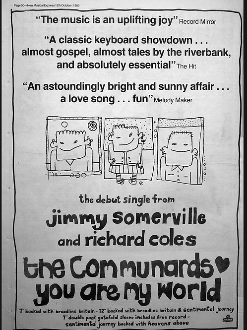 The Communards - Richard Coles And Jimmy Somerville - You Are My World