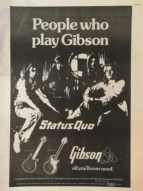 Staus Quo - Play Gibson