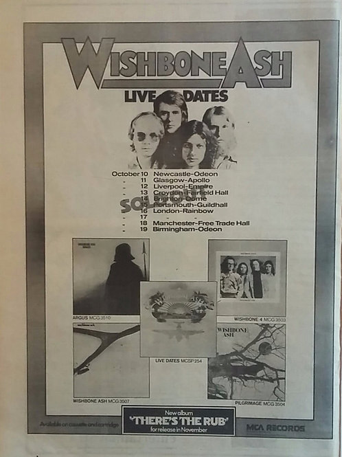 Wishbone Ash . Live Dates
