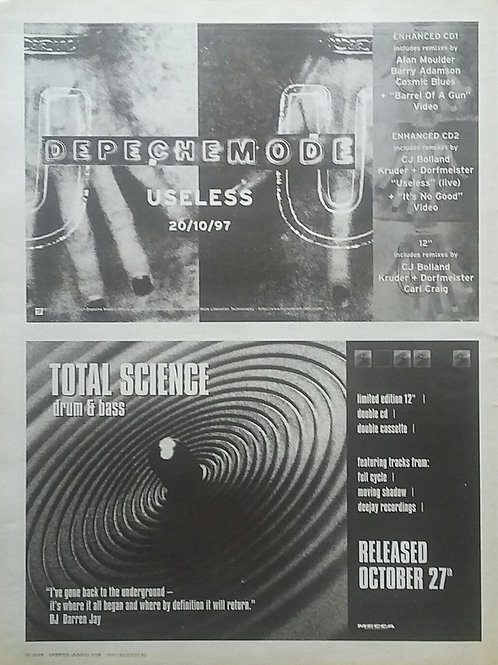 Depeche Mode / Total Science - Useless / Drum & Bass