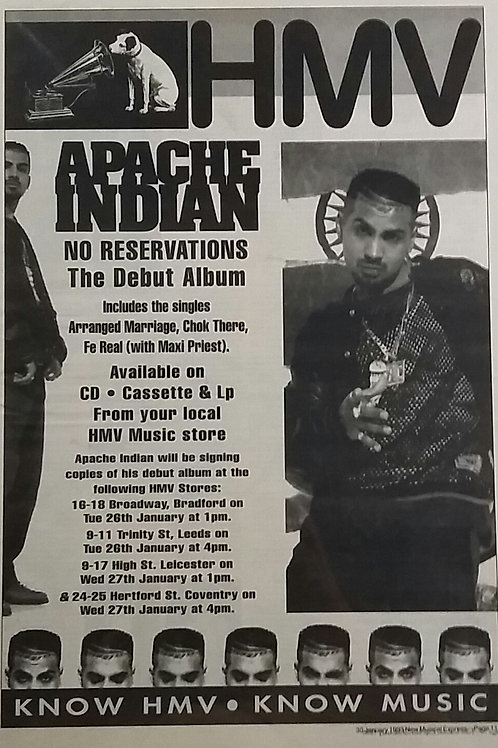 Apache Indian - No Reservations