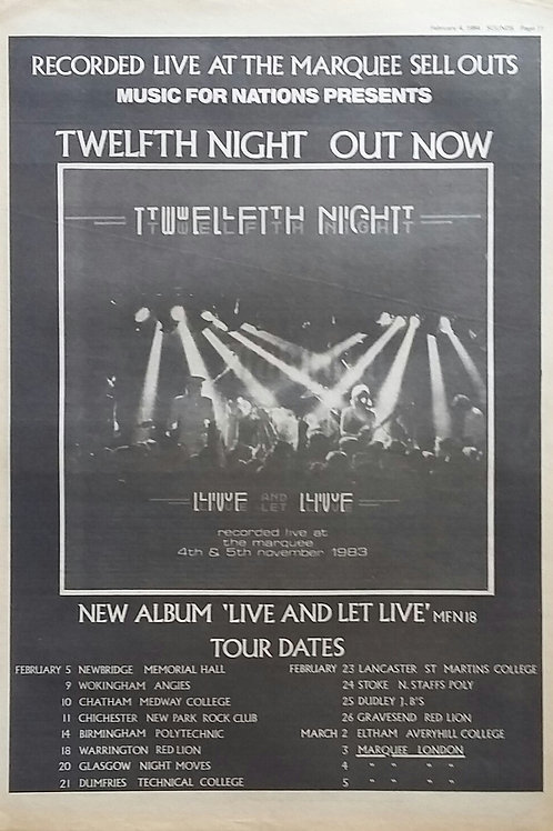 Twelfth Night – Live And Let Live