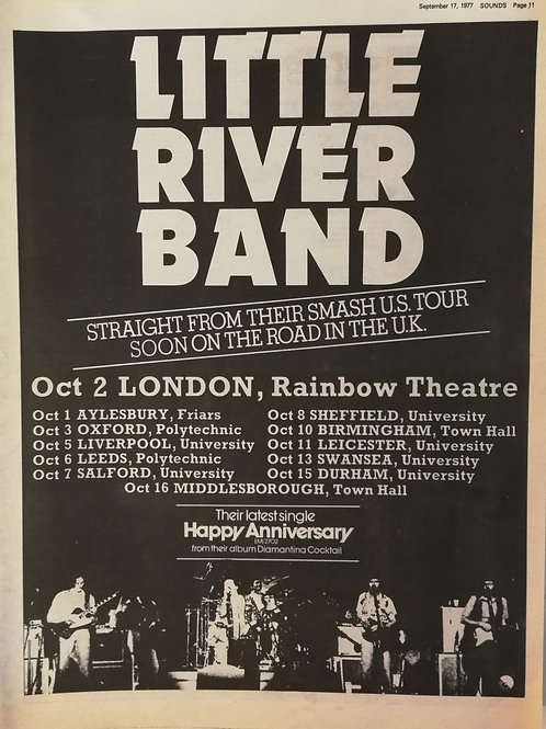 Little River Band - U.K Tour