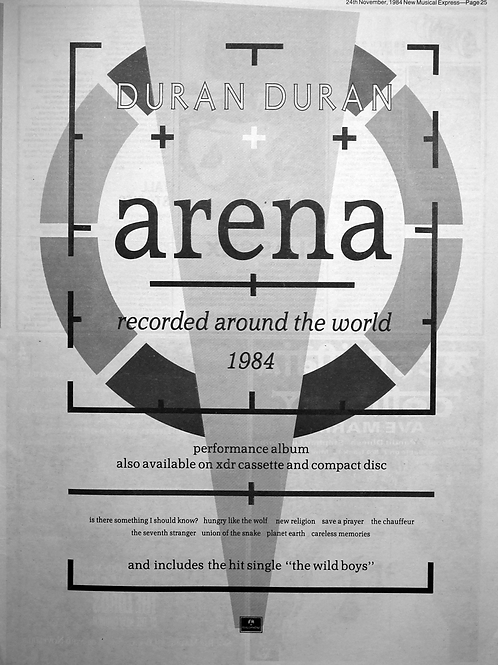 Duran Duran - Arena - Recorded Around The World 1984