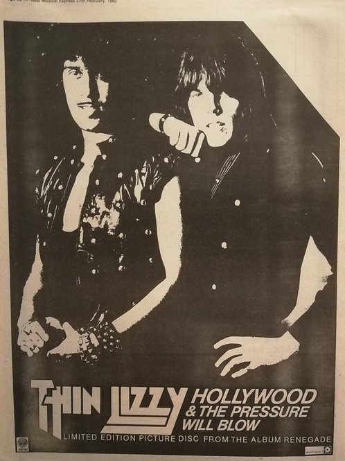 Thin Lizzy - Hollywood & The Pressure Will Bolw