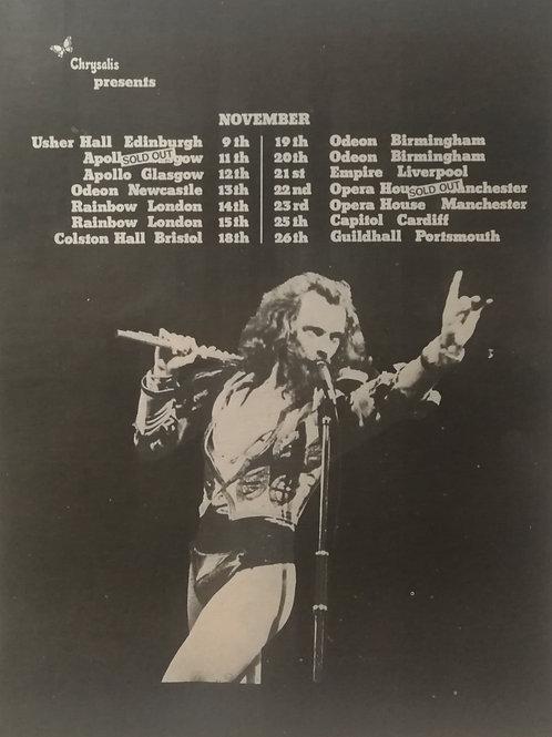 Jethro Tull - Tour Dates