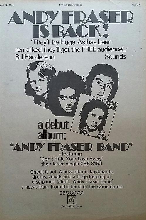 Andy Fraser Band – Andy Fraser Band