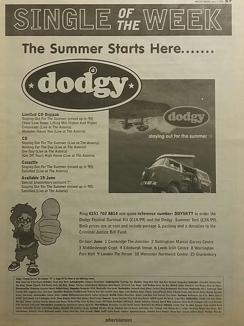 Dodgy ‎– Staying Out For The Summer