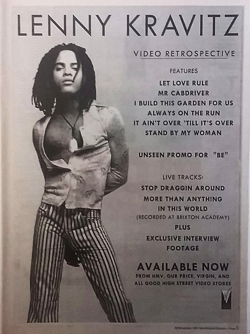 Lenny Kravitz - Video Retrospective