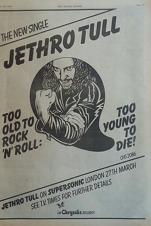 Jethro Tull - Too OLd To Rock'n'roll : Too Young To Die !