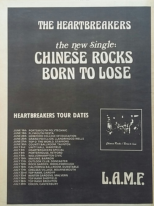The Heartbreakers  ‎– Chinese Rocks / Born To Lose