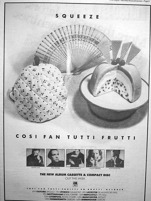 Squeeze – Cosi Fan Tutti Frutti