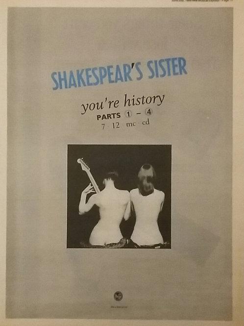 Shakesper's Sister - You're History