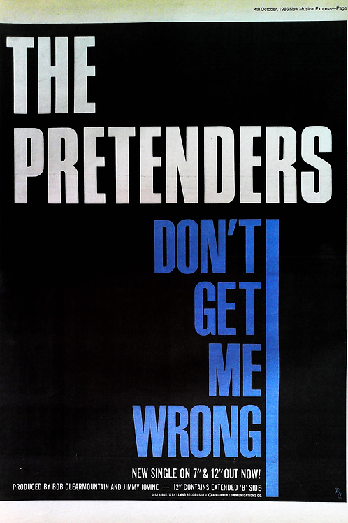 Pretenders - Don't Get Me Wrong