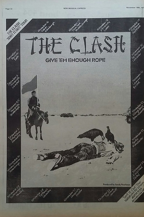 The Clash – Give 'Em Enough Rope Tour