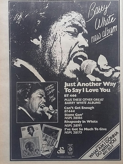Barry White - Just Another Way To Say I Love You