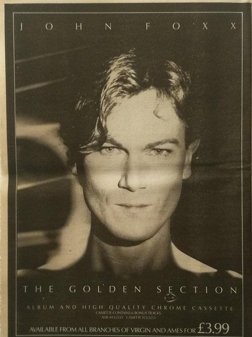 John Foxx - The Golden Section