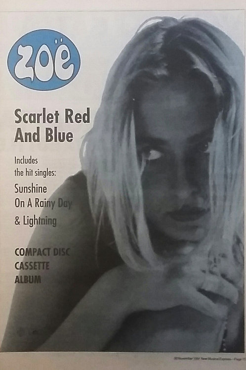 Zoe - Scarlet Red And Blue