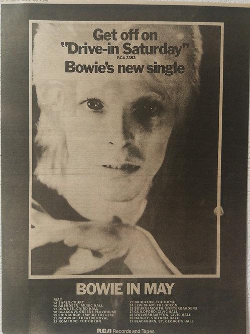 David Bowie - Drive in Saturday