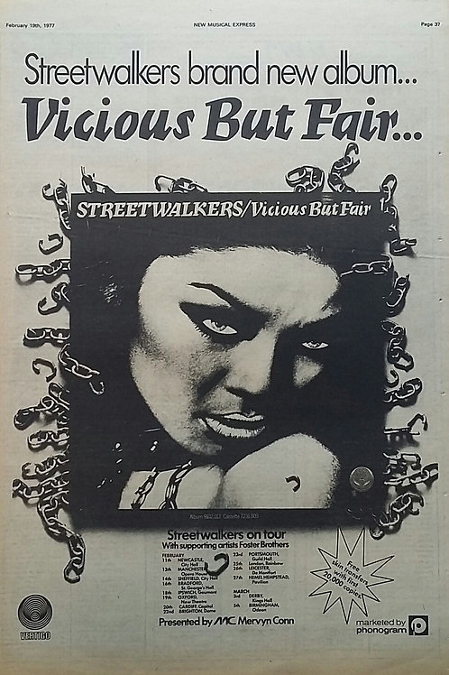 Streetwalkers ‎– Vicious But Fair
