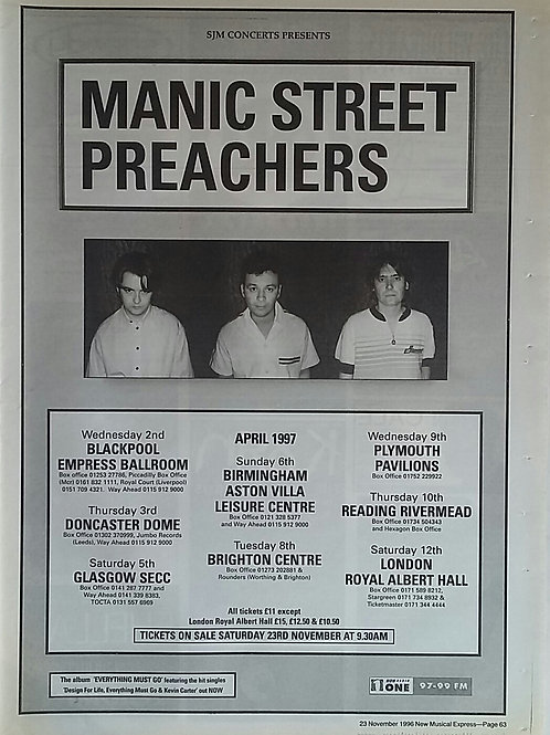 Manic Street Preachers - Tour 1996