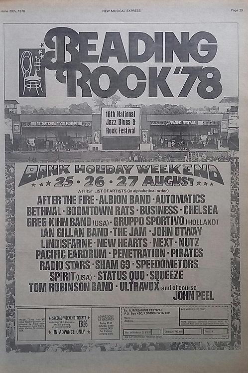 Reading - Rock '78