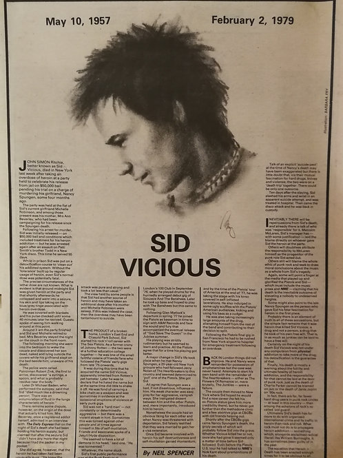 Sex Pistols - Sid Vicious