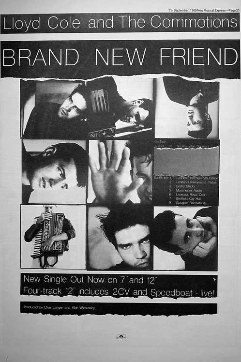 Lloyd Cole & The Commotions – Brand New Friend