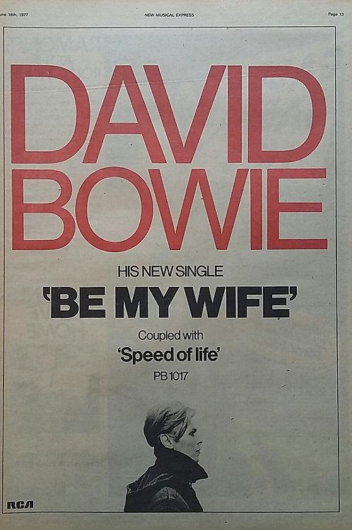 David Bowie - By My Wife