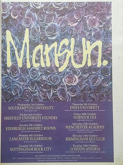 Mansun - Tour