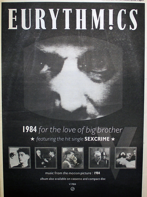 Eurythmics – 1984 (For The Love Of Big Brother)