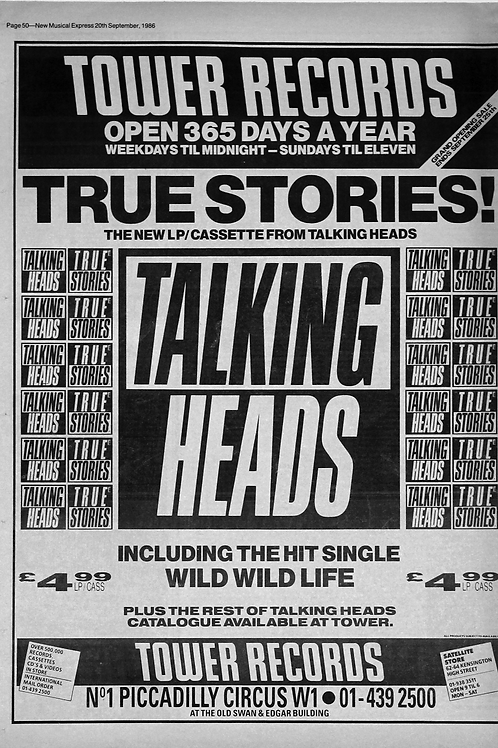 Talking Heads - True Stories!