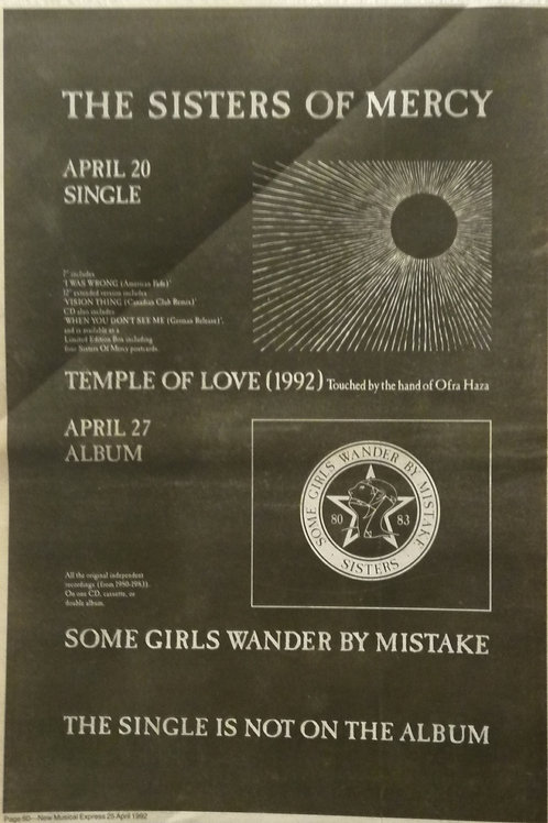 The Sisters Of Mercy - Temple Of Love / Some Girls Wander By Mistake