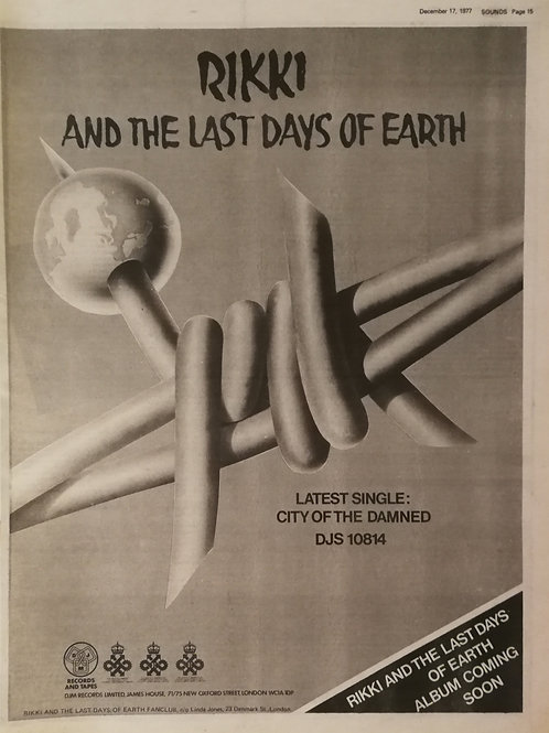 Rikki And The Last Days Of Hearth - City Of The Damned