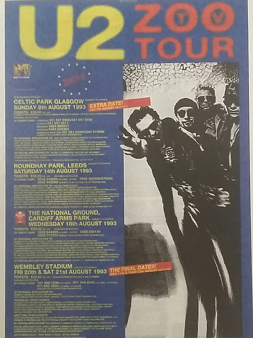 U2 - Zoo Tv Tour